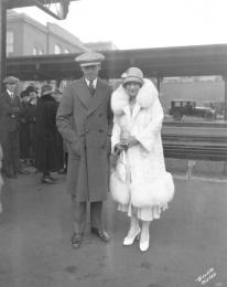 Mr&MrsLloyd at Union Station 1925