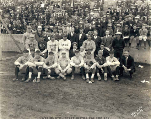 Babe Ruth,Bob Muesel & Tacoma All Stars Stadium Oct 18, 1924