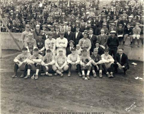 Babe Ruth,Bob Muesel & Tacoma All Stars Stadium Oct 18, 1924