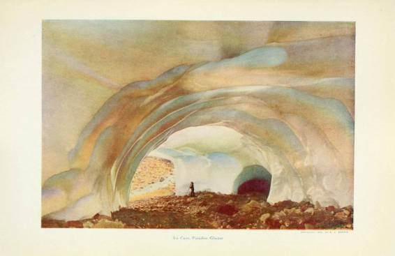 Paradise Ice Cave plate. Photograph by A H Barnes. The Mountain That Was God. P.79. 1911