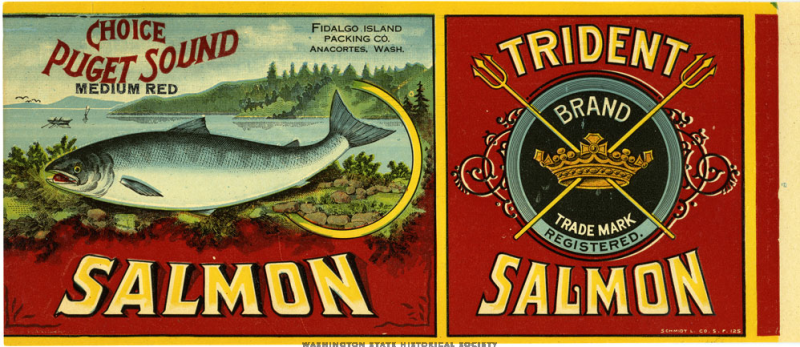 salmon lable
