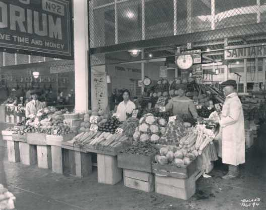 Tommy's Produce Stand, run by the Inouye family.Sanitary Market 1922