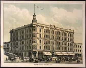1888 litho, Fife Hotel