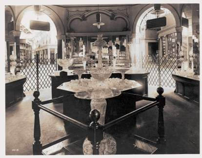 Libby Glass Display, St. Louis Exhibition, 1904
